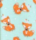 Anti-Pill Fleece Fabric -Tribal Foxes
