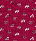 University of Utah Utes Cotton Fabric -Distressed