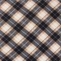 Blizzard Fleece Fabric-Tan & Black Bias Plaid