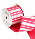 2 And One Qtr Geo Pinks Stripe Ribbon
