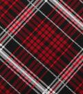 Christmas Cotton Fabric 43\u0022-Red Black Plaid