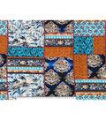 Silky Prints Fabric-Patch Multi Stretch Chiffon