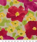 Robert Allen @ Home Print Swatch 55\u0022-Evanthey Flora Poppy