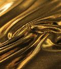 Metallic Apparel Bodre Fabric -Gold Foil Dot