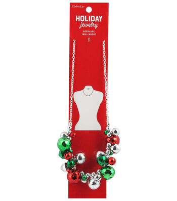 hildie & jo Christmas Holiday Jewelry 18'' Jingle Bells Necklace