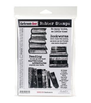 Darkroom Door 7''x5'' Cling Rubber Stamp-Bookworm
