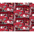 University of Nebraska Cornhuskers Cotton Fabric-Pop Art