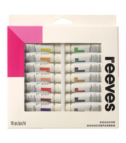Reeves Gouache Watercolor 10ml 18/Pkg-Assorted Colors, , hi-res
