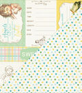 Beginnings Double-Sided Cardstock 12\u0022X12\u0022-Book Spine Cut Aparts/Dots