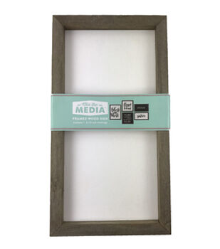 Mix the Media 8''x15'' Rustic Wood Frame