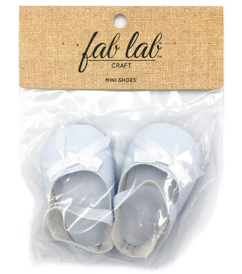Fab Lab Doll Accessory-Mini Shoes White with Bow