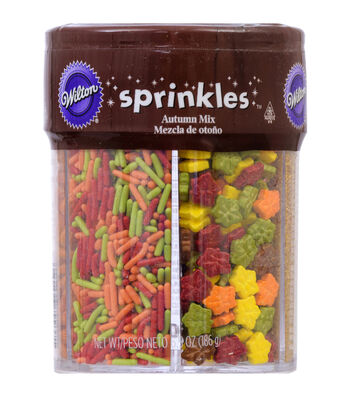 Wilton Jimmies Sprinkles 2.52oz-Autumn