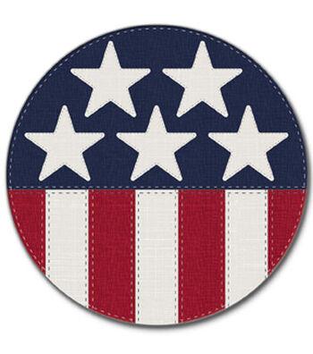 Americana Patriotic 4 pk Coasters-Stars & Stripes