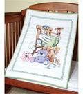 Fairway Needlecraft Co. 36\u0027\u0027x50\u0027\u0027 Stamped Baby Quilt Top-Stork
