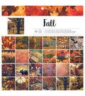American Crafts Single-Sided Paper Pad 12\u0022X12\u0022 48/Pkg-Fall