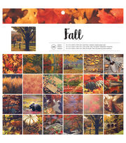 "American Crafts Single-Sided Paper Pad 12""X12"" 48/Pkg-Fall, , hi-res"