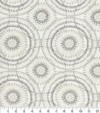 Kelly Ripa Home Upholstery Fabric 54''-Oyster Spiral Graph