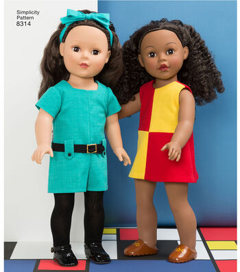 Simplicity Pattern 8314 18'' Doll Clothes