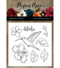 Paper Rose 8 pk Photopolymer Crystal Clear Stamps-Hummingbird Garden