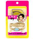 LaurDIY Mini DIY Wrap Bracelet Kit-Gold & Turquoise