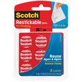 Scotch Restickable Dots .875\u0022 18/Pkg-Clear