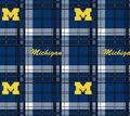 University of Michigan Wolverines Fleece Fabric 58\u0022-Plaid