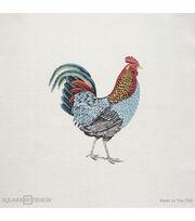 """Square By Design Multi-Purpose Decor Fabric-Rooster 25"""" Woven Square, , hi-res"""