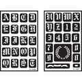 Armour Products Over \u0027n\u0027 Over Reusable Stencil-Old English Alphabet