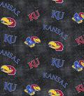 University of Kansas Jayhawks Flannel Fabric 42\u0022-Distressed Logo