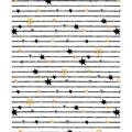 Nursery Cotton Fabric-Black Lines