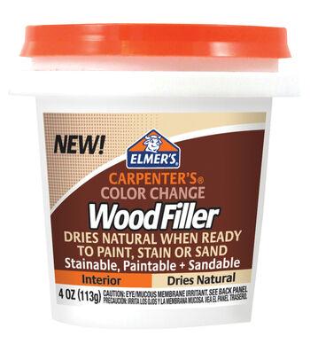 Elmer's Color Change Wood Filler 4oz-Natural
