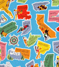 Novelty Cotton Fabric-This Land is Your Land