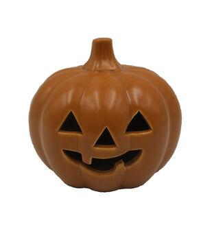 Maker's Halloween Small LED Jack-o'-lantern-Orange