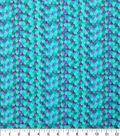 Novelty Cotton Fabric 43\u0022-Turquoise Mermaid Scales Glitter