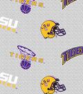 Louisiana State University Tigers Fleece Fabric 58\u0022-Grey Heather