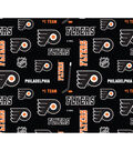 Philadelphia Flyers Cotton Fabric -Logo