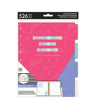 The Happy Planner 6 Month Undated Calendar Extension Pack-Pink