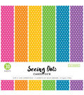 Colorbok Single-Sided Printed Cardstock 12\u0022X12\u0022-Bright Spots, 6 Colors
