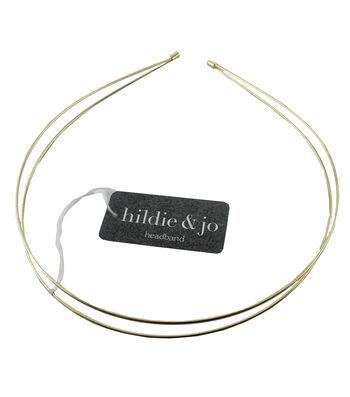 hildie & jo 5.25''x4.75'' Double Gold Headband
