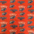 Oklahoma City Thunder Fleece Fabric-Allover