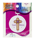 Cross Mini Counted Cross Stitch Kit-2-3/4\u0022 Oval 18 Count