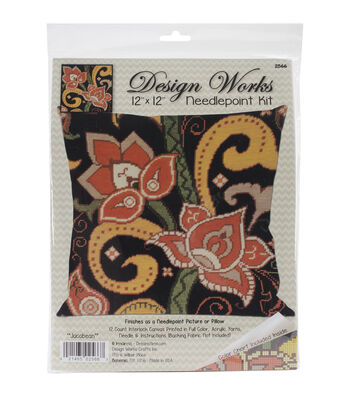 Design Works Crafts 12''x12'' Needlepoint Kit-Jacobean