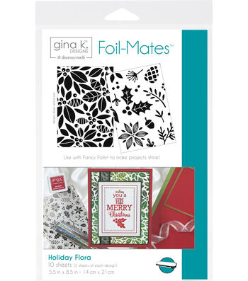 Gina K. Designs 10 pk 5.5''x8.5'' Background Foil-Mates-Holiday Flora