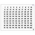Hundreds Chart Wipe-Off Chart 22\u0022x28\u0022 6pk