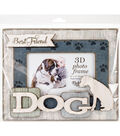 Highland Woodcrafters 6\u0027\u0027x4\u0027\u0027 3D Wooden Photo Frame-Best Friend & Dog