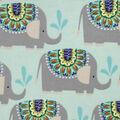 Snuggle Flannel Fabric -Elephant Shower