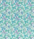 Keepsake Calico Cotton Fabric-Butterflies Glitter Aqua