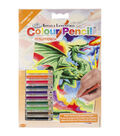 Royal Langnickel Mini Color Dragon Pencil By Number Kit