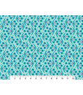 Quilt Block of the Month Coordinating Fabric-Turquoise & Navy Floral