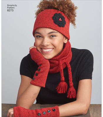 Simplicity Pattern 8273 Misses' Cold Weather Accessories